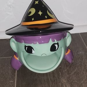 New Green Witch Candy Dish